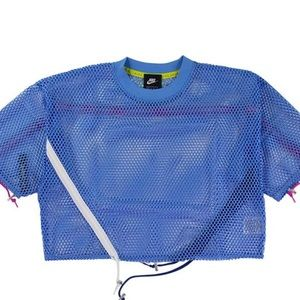 Nike Sportswear Women's Blue Mesh Top